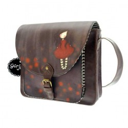 MINI CARTELLA Santoro POPPY WOOD Gorjuss TRACOLLA borsetta bag 359PW BORSA