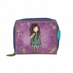 portafoglio MINI ZIP WALLET Gorjuss PULLING ON YOUR HEART STRINGS 462GJ02 porta monete