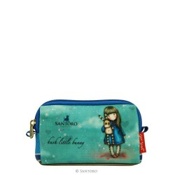 MINI TROUSSE gadget pouch HUSH LITTLE BUNNY Santoro CON ZIP Gorjuss ACCESSORI 379GJ06