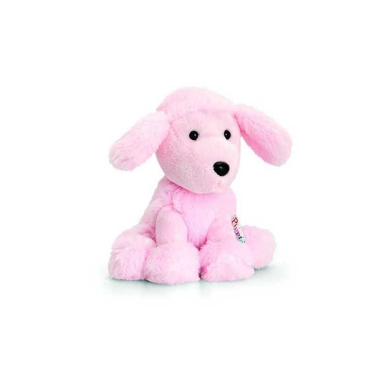 PELUCHE CANE BARBONCINO ROSA 14 cm Pippins Keel Toys CLASSICO pupazzo bambola pet