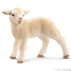 AGNELLO animali in resina SCHLEICH miniature 13744 farm life BIANCO agnellino