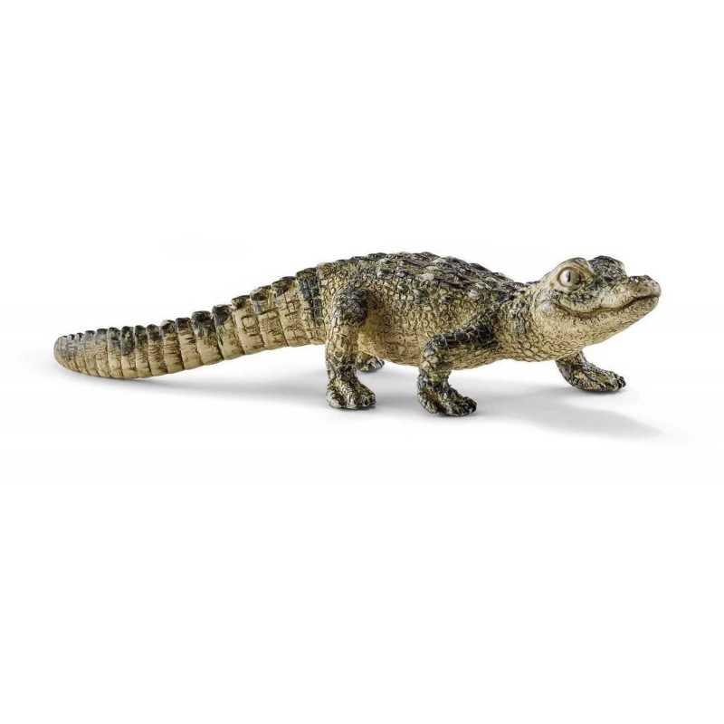 ALLIGATORE CUCCIOLO animali in resina SCHLEICH miniature 14728 wild life COCCODRILLO