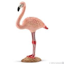 FENICOTTERO ROSA animali in resina SCHLEICH miniature 14758 uccello WILD LIFE flamingo