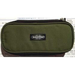 ASTUCCIO Eastpak OVAL BLOCNOTE BLACK tasca interna con zip e divisoria porta penne TRICOLOR cod. EK717