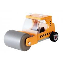 MACCHINA ASFALTATRICE in legno HAPE truck MEZZI DA LAVORO camion RUSPA trattore 3 ANNI +