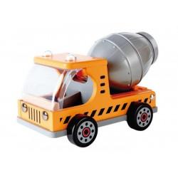 CAMION BETONIERA in legno HAPE truck MEZZI DA LAVORO ruspa MACCHINA trattore 3 ANNI + E3018