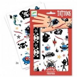 TATUAGGI PIRATI tattoo per bambini DJECO DJ09584 rimuovibili con acqua