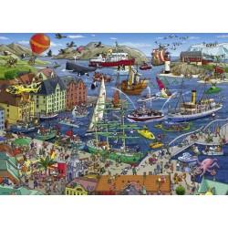 Puzzle TANCK SEAPORT Heye 29749 Porto 1000 pezzi scatola triangolare 50x70 cm