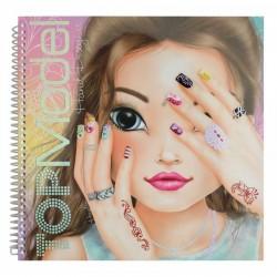 ALBUM HAND DESIGNER nail art TOP MODEL Create your TOPMODEL mani UNGHIE creativo artistico da colorare