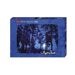Puzzle FULL MOON 500 pezzi Heye 29625 LUNA PIENA 50x35cm Magic Forests