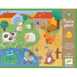 Puzzle tattile gigante Djeco Fattoria, 20 pz, età 3+