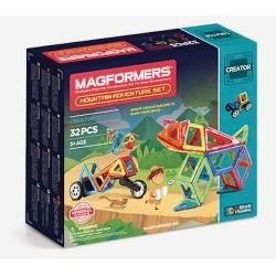 MAGFORMERS Mountain Adventure Set 32 PZ creator line COSTRUZIONI magnetiche 3D età 3+