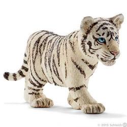 Cucciolo di TIGRE BIANCA animali in resina SCHLEICH miniature 14732 Wild Life WHITE TIGER