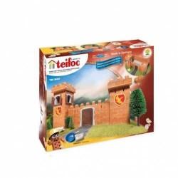 CASTELLO DEI CAVALIERI kit modellismo TEIFOC 460 pezzi TEI 3600 mattoni veri e riutilizzabili SET 6+