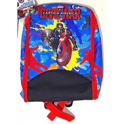 Game Backpack ZAINO GIOCO borsa apribile CIVIL WAR Marvel CAPITAIN AMERICA capitan BERSAGLIO scudo PALLINE freccette