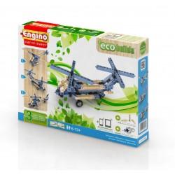 AIRCRAFTS Eco Builds 3 MODELLI DI ELICOTTERO Engino KIT costruzioni in legno e plastica GIOCO età 6+