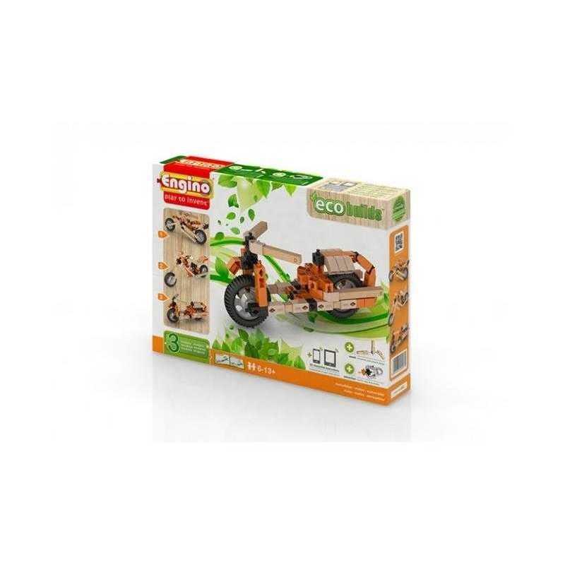 BIKES Eco Builds 3 MODELLI DI MOTO Engino KIT costruzioni in legno e plastica GIOCO età 6+