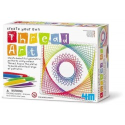 Intreccia i fili THREAD ART kit artistico 4M create your own PATTERN GEOMETRICI età 8+