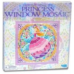 PRINCESS Window Mosaic Art PRINCIPESSE kit artistico MOSAICO DA FINESTRA easy-to-do 4M età 7+