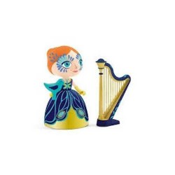 ELISA & ZE HARP Djeco ARTY TOYS miniature PRINCIPESSE action figure ARPA in resina DJ06771 età 4+