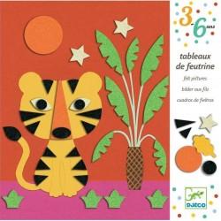 COLLAGE DOLCE NATURA feltro FELTRINI kit artistico 4 TAVOLE gioco set DJECO DJ09864 età 3+