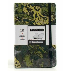 TACCUINO notebook POCKET tascabile BASTARDIDENTRO pagine a righe CAMO + fumetto estraibile + stickers BASTARDI DENTRO
