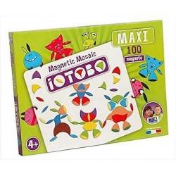 IOTOBO MAXI mosaico magnetico 100 PEZZI costruzioni 3 FORME set di magneti MADE IN FRANCE età 4+