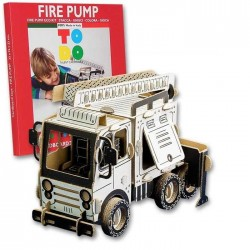 FIRE PUMP To Do AUTOPOMPA DEI POMPIERI in cartone DA MONTARE e colorare 143 PEZZI kit 100% MADE IN ITALY 6+