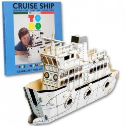 CRUISER SHIP To Do NAVE TRAGHETTO in cartone DA MONTARE e colorare 69 PEZZI kit 100% MADE IN ITALY 6+