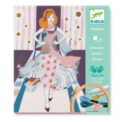 RICAMO fashion week CUCITO crea broderie DJECO kit artistico DECORAZIONE creativo DJ09845 età 8+