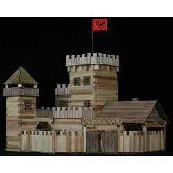 Castello medievale in legno costruzioni Walachia