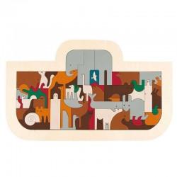 Puzzle in legno ARCA DI NOE' 62 pezzi Hape George Luck E6525 età da 8 anni