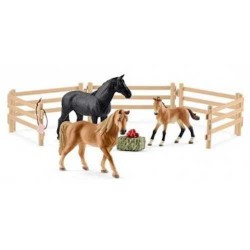 Set TENNESSEE WALKER AL PASCOLO farm world SCHLEICH animali in resina ESCLUSIVO 42391 fattoria CAVALLI età 3+