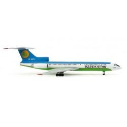 UZBEKISTAN AIRWAYS TUPOLEV TU-154M HERPA WINGS 553797 scala 1:200 model