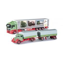 SET 2 CAMION 75 JAHRE WANDT Herpa 303606 Auto Trucks Camion scala 1:87 model