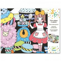 COLORARE VELLUTO SWEET PARADE kit artistico panoramico CREATIVO Djeco DJ09627