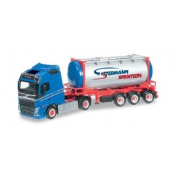 VOLVO FH GL TANK CONTAINER SEMITRAILER STERMANN Herpa 304269 Auto Trucks Camion scala 1:87 model