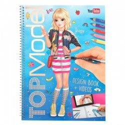 ALBUM design book + videos TOP MODEL con bonus code KIT artistico creativo DA COLORARE