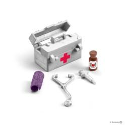 Set FARMACIA DELLA STALLA gioco SCHLEICH 42364 miniature in resina FARM WORLD kit medico 5+