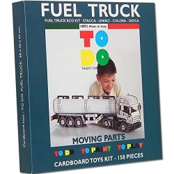 FUEL TRUCK To Do CAMION CISTERNA in cartone DA MONTARE e colorare 158 PEZZI kit MADE IN ITALY 6+