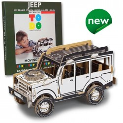 JEEP To Do FUORISTRADA in cartone DA MONTARE e colorare 100 PEZZI kit MADE IN ITALY 6+