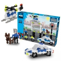 MINI BASIC 760 pezzi PLUSPLUS gioco modulare POLIZIA costruzioni PLUS PLUS età 5+