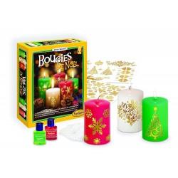 CANDELE DI NATALE kit creativo SentoSphere crea le tue candele natalizie
