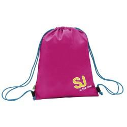 SAKKY BAG busta porta scarpe SACCA borsa SEVEN rosa GIRL Active Time CHIUSURA A STROZZO