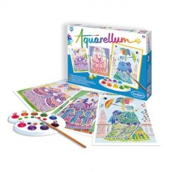 AQUARELLUM SentoSphere MARIA ANTONIETTA kit creativo artistico da 8 anni con colori e pennello