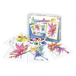 AQUARELLUM JUNIOR SentoSphere FATE kit creativo artistico da 5 anni con colori e pennello