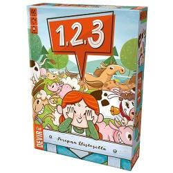 1 2 3 gioco di osservazione memoria e rapidità DEVIR con animali della fattoria in legno da 6 anni