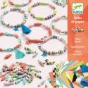 PERLE DI CARTA bracciali PRIMAVERA crea gioielli FAI DA TE kit artistico DJECO creativo DJ09404 età 7+