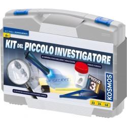 KIT DEL PICCOLO INVESTIGATORE valigetta KOSMOS set RACCOGLI PROVE risolvi crimini 26 ESPERIMENTI età 8+