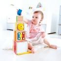 SET MUSICALE DA IMPILARE stacking music set HAPE gioco in legno MUSICA neonati E0336 da 18 mesi +